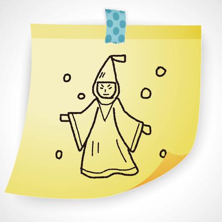 merlin: wizard doodle