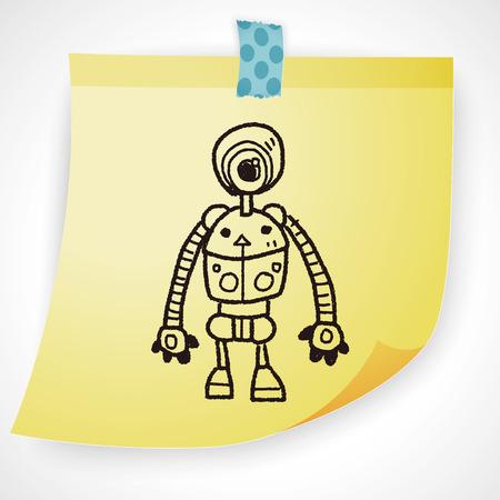 future background: robot doodle