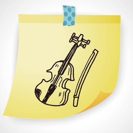fiddles: Violin doodle