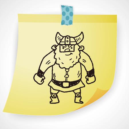 costume eye patch: viking doodle