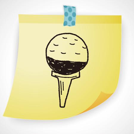 sport club: golf doodle