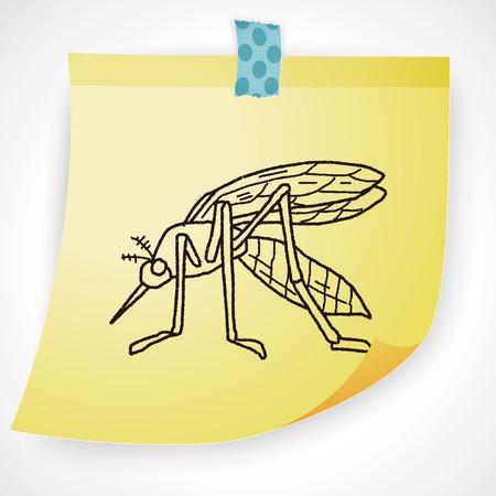 gnat: mosquito doodle Illustration