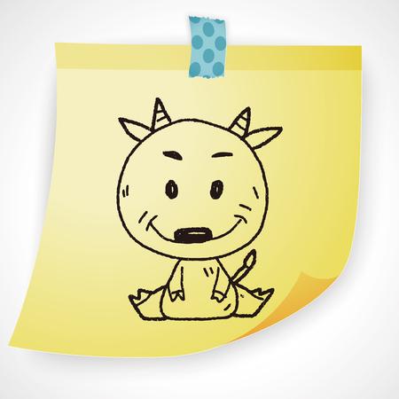 zodiac background: Chinese Zodiac sheep doodle drawing Illustration