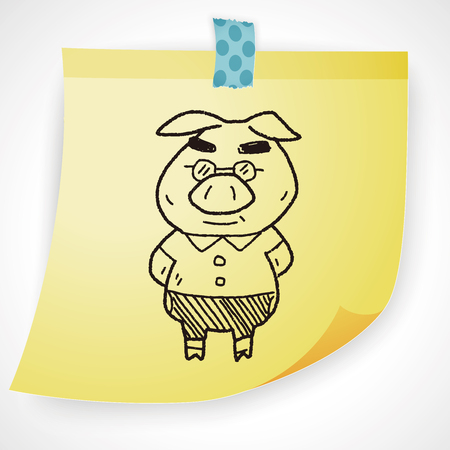 storybook: three little pigs doodle