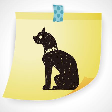 cat goddess: egypt cat doodle