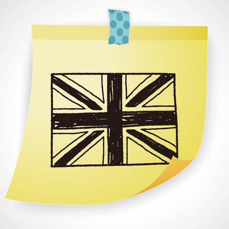 uk: UK flag doodle
