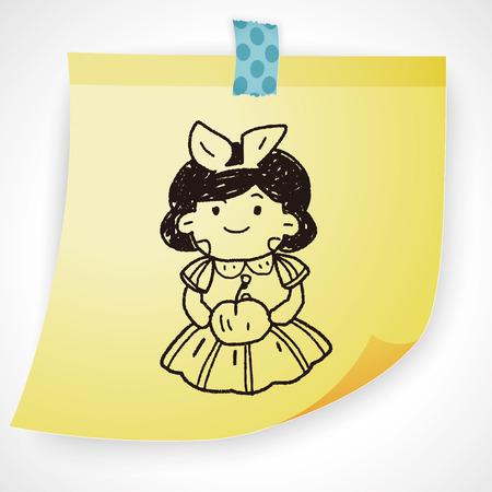 snow white: snow white doodle