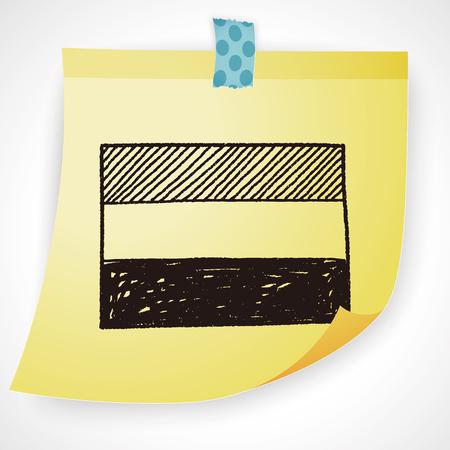 flag of netherlands: netherlands flag doodle