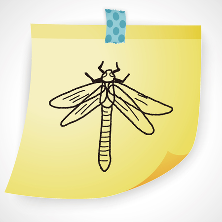 dragonfly wings: Dragonfly doodle