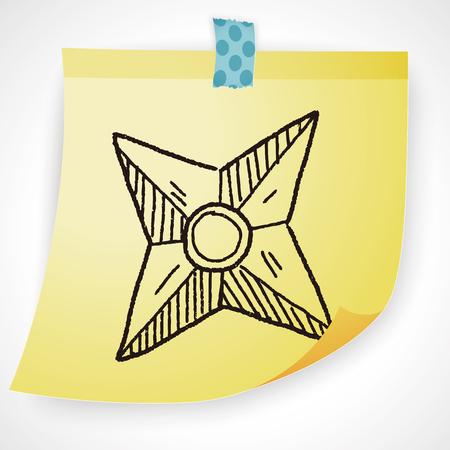 weapon: ninja weapon doodle Illustration