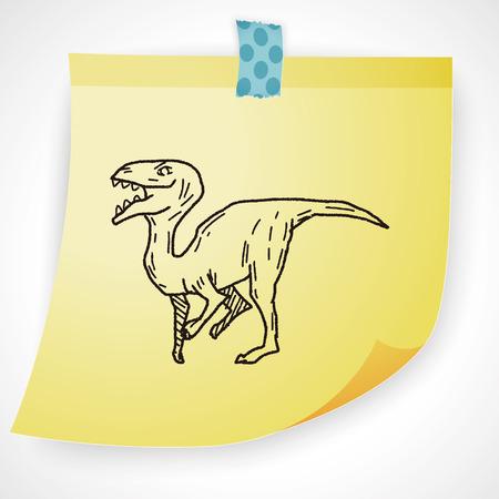 dinosaur: dinosaur doodle