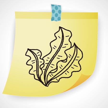 kelp: Kelp doodle Illustration