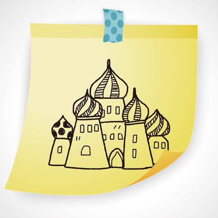 russia: russia castle doodle