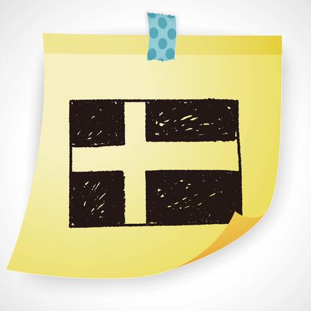 bandera de suecia: suecia bandera del doodle