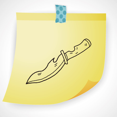 sabre: knife doodle Illustration