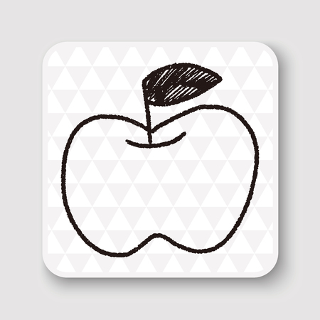 pencil drawing: doodle apple Illustration