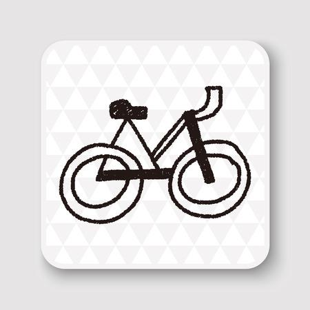 symbol sport: doodle bicycle