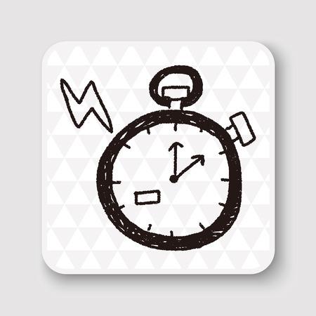 symbol sport: doodle stopwatch Illustration