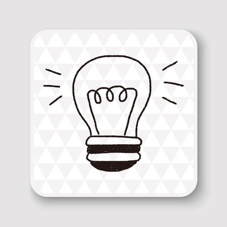 fluorescent lamp: doodle bulb