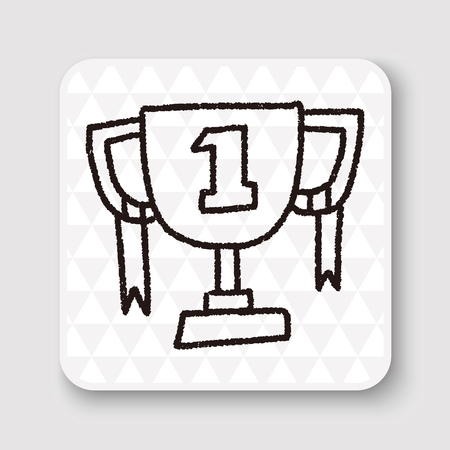 pencil drawing: doodle champion cup