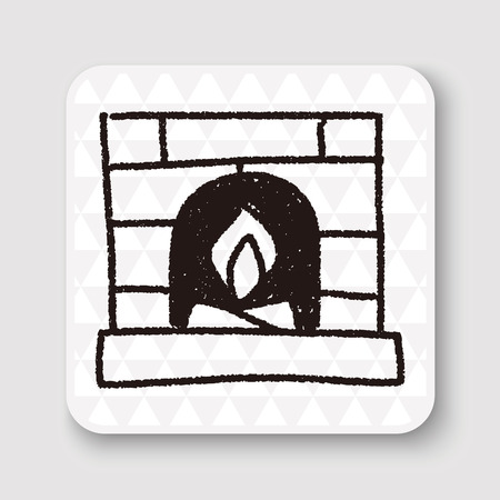 fireplace: Fireplace doodle drawing