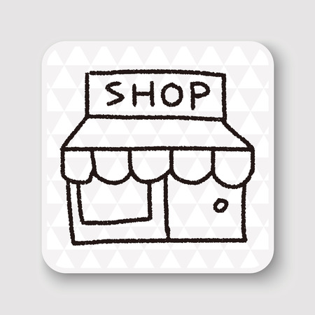 store: shop store doodle drawing
