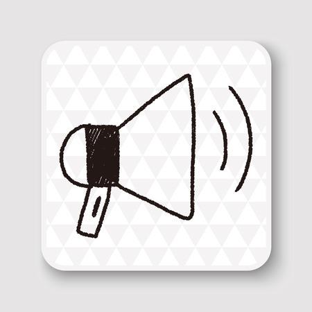 loudspeaker: loudspeaker doodle drawing