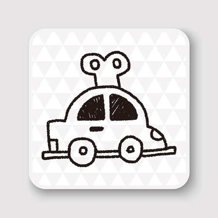 toy the car: toy car doodle drawing Illustration