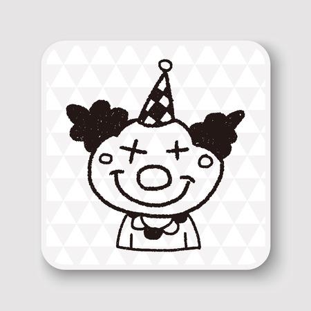 birthday clown: doodle clown