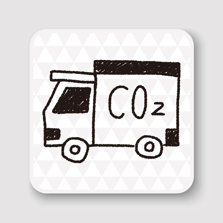 co2: truck doodle drawing