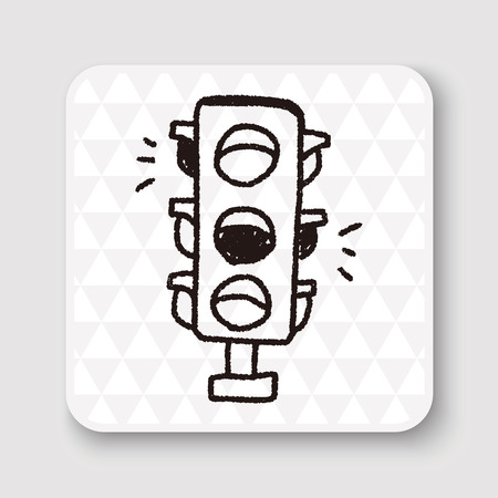 regulate: Doodle Traffic lights Illustration