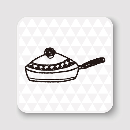 frying pan: Doodle Frying pan