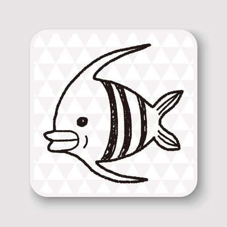 angelfish: Doodle Angelfish Illustration