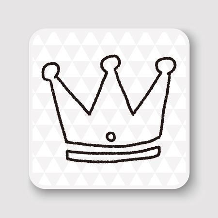 corona de reina: Doodle corona imperial