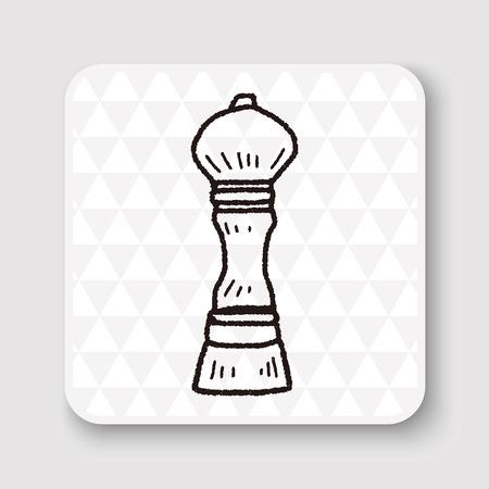 pepper mill: pepper mill doodle