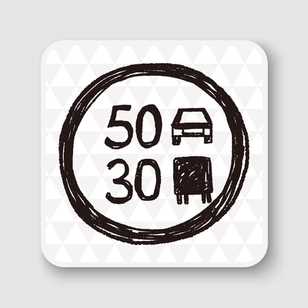 miles: speed limit doodle
