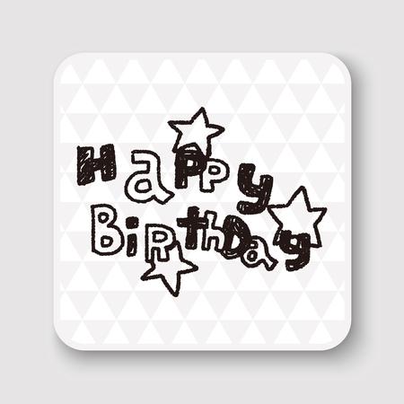 birthday party: doodle happy birthday party