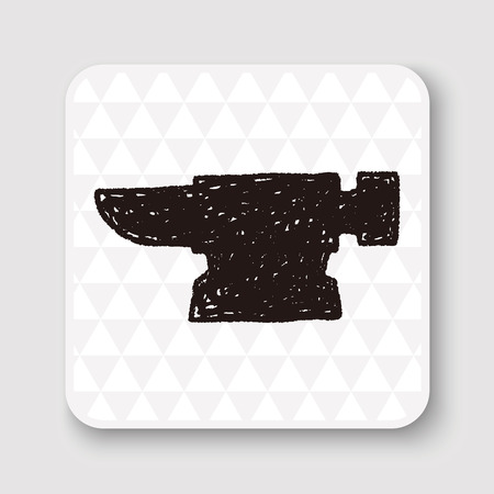 forge: blacksmith doodle Illustration