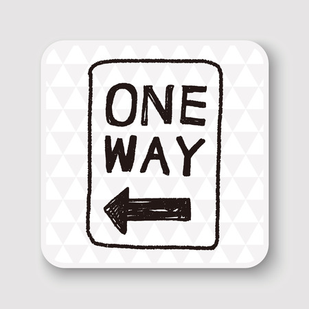 way: one way sign doodle