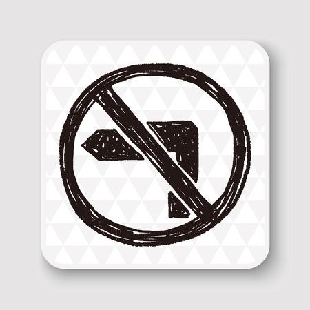 obey: sin su vez garabato izquierda Vectores