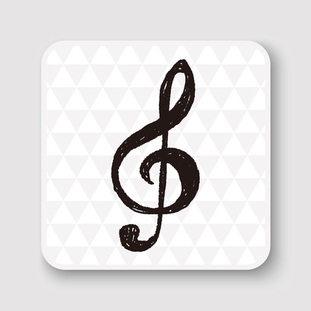 music: music note doodle drawing