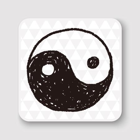 chi: Tai Chi doodle Illustration
