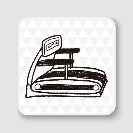 treadmill: treadmill doodle