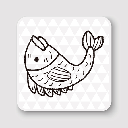 pendent: Chinese New Year; Chinese lucky fish means May you always get more than you wish for. doodle