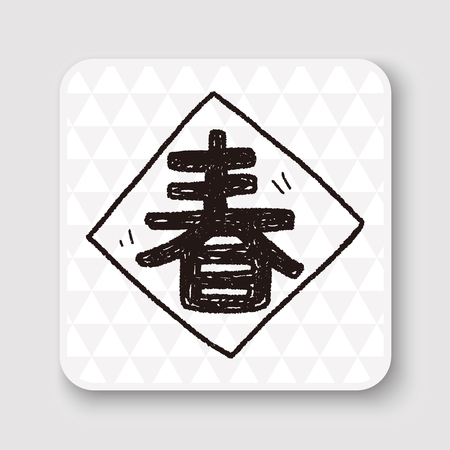 spring festival couplets: Chinese New Year; Chinese festival couplets doodle