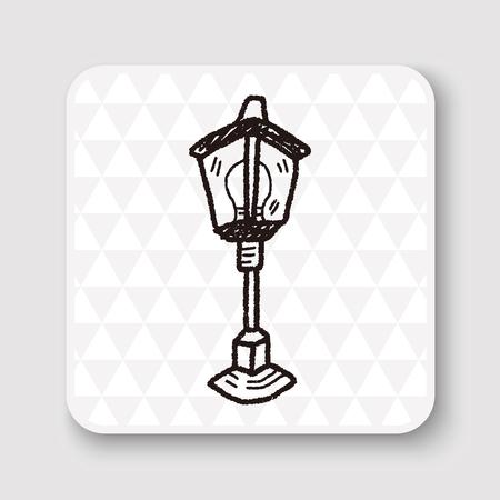 street lamp: street lamp doodle Illustration