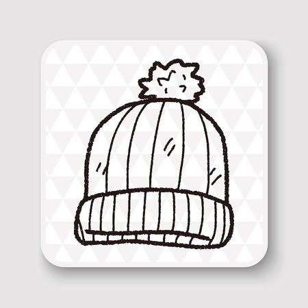woolly: winter hat doodle