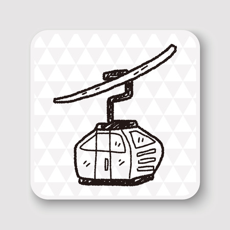 ropeway: cable car doodle