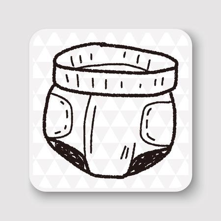 pampers: diaper doodle Illustration