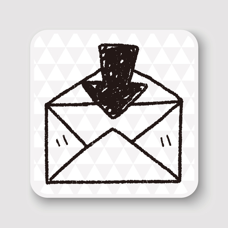 by mail: mail doodle Illustration